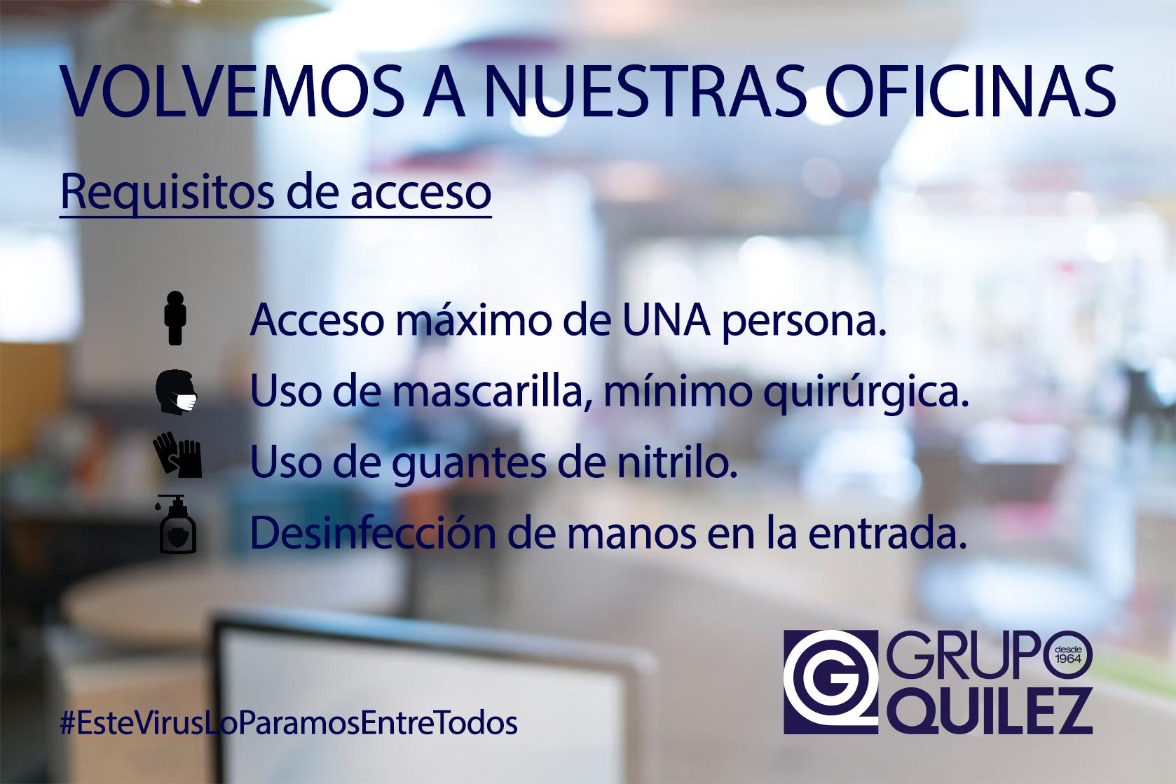 Grupo Quílez reabre sus oficinas al público
